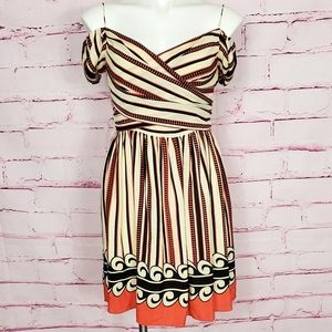 Anna Sui 100% Silk Cold Shoulder Dress